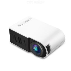 G210 LED Projector 600 lumen 3.5mm Audio 320x240 HDMI USB TF Micro USB Portable Projector - US Charger