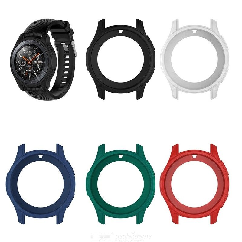 Protective Silicone Dial Case Shell for Samsung Galaxy Watch 46mm SM-R800 Cover For Samsung Gear S3 Frontier Smart Watch unisex