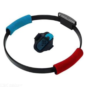 Adjustable Elastic 60cm Leg Fixing Strap Sport Band+Non-Slip Ring-Con Grips Fit for Nintend Switch Gaming Accessories
