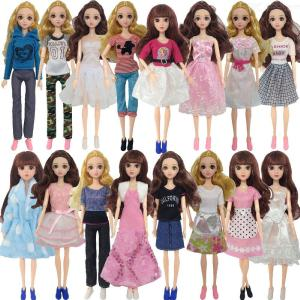 8Pcs Doll Dresses Costume Set Multi-style Fashion Garments For Barbie Doll 30cm