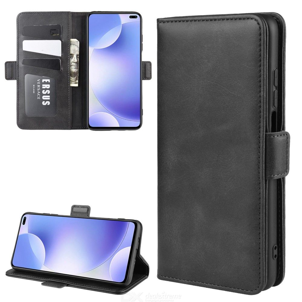 CHUMDIY PU Leather Phone Wallet Case with Double Buckle for Xiaomi Redmi K30