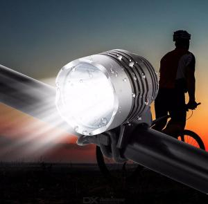 ZHISHUNJIA T6 LED Bike Headlamp Bright Bicycle Headlight for Off-road, Mountain More - US Charger