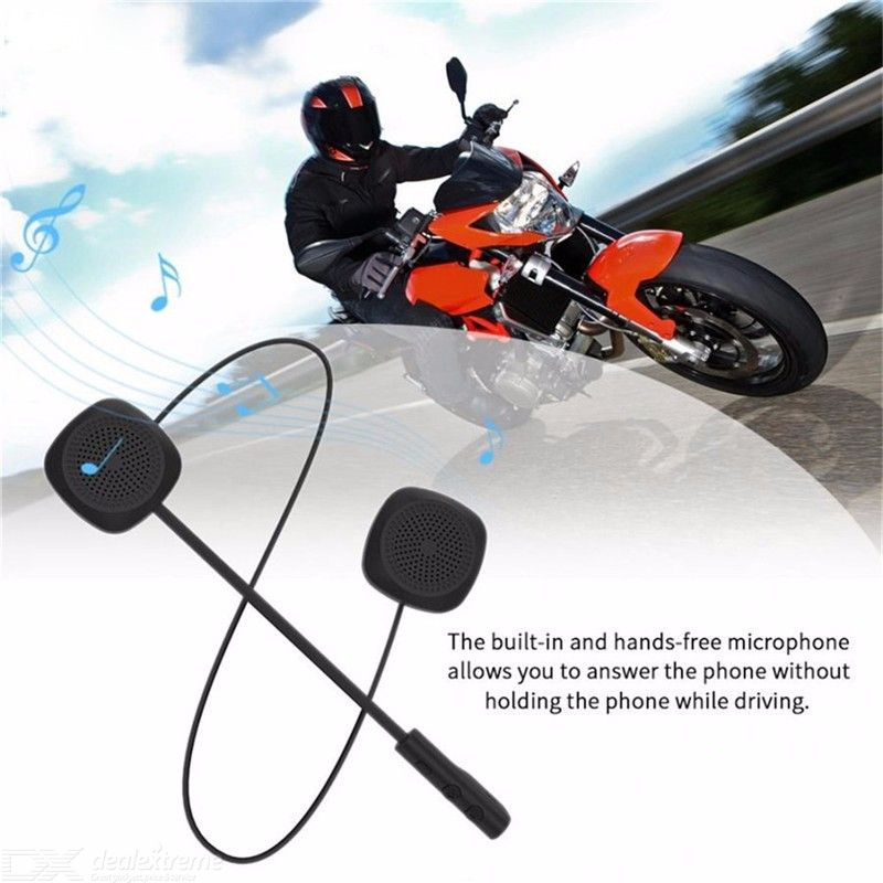 Quelima Bluetooth 5.0 Motorcycle Bluetooth Helmet Headset Low Energy Stereo Handsfree Call Helmet Headset
