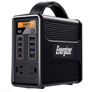 Energizer Portable Power Station Solar Generators With PD 45W USB-C Fast Charging, 160Wh/50000mAh 110V/150W Lithium Iron Battery