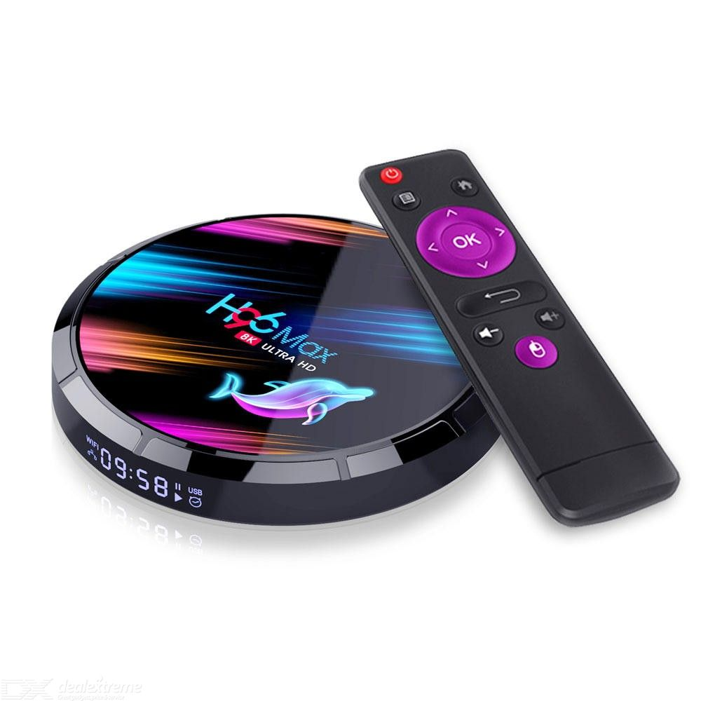 H96 Max X3 Smart TV Box Amlogic S905X3 4GB 64GB WIFI 1000M LAN Android Android 9.0 4K 8K VP9 H.265 Media Player - EU Plug