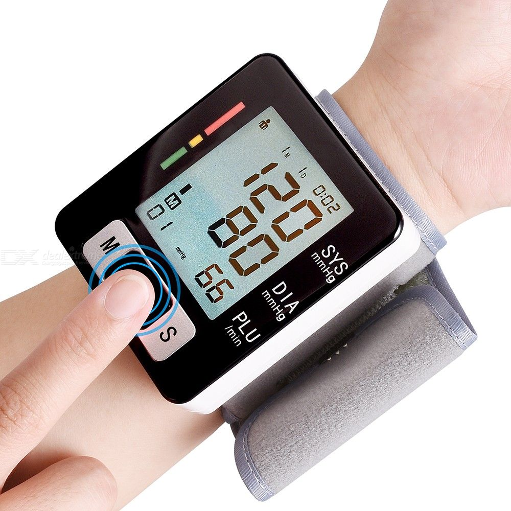Intelligent Wrist-type Electronic Blood Pressure Monitor Portable Household Heart Rate Pulse Sphygmomanometer