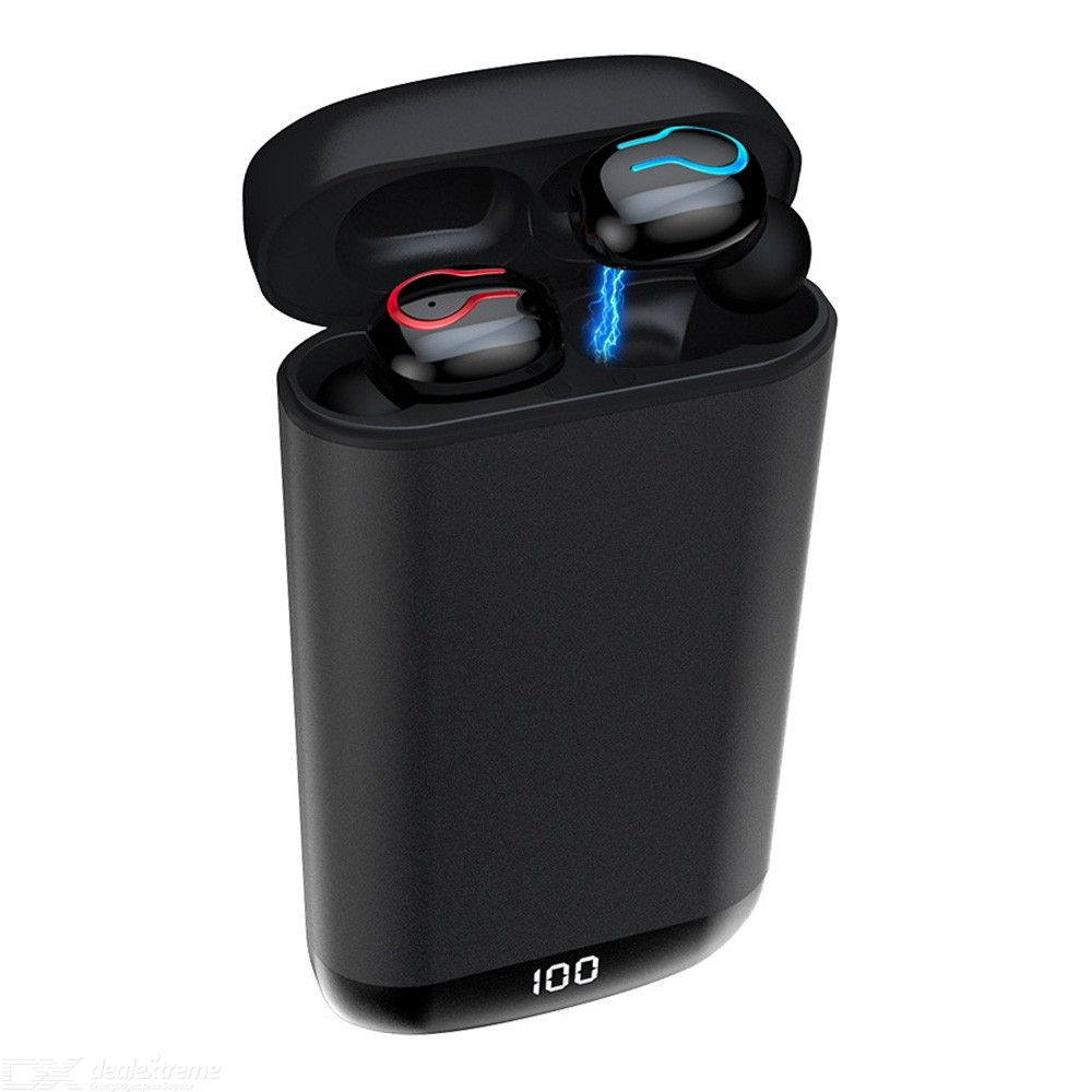HBQ Q66 TWS Wireless Earbuds V5.0 Bluetooth Earphones 6D Stereo With Ultimate 6000 MAh Power Display Charge Case