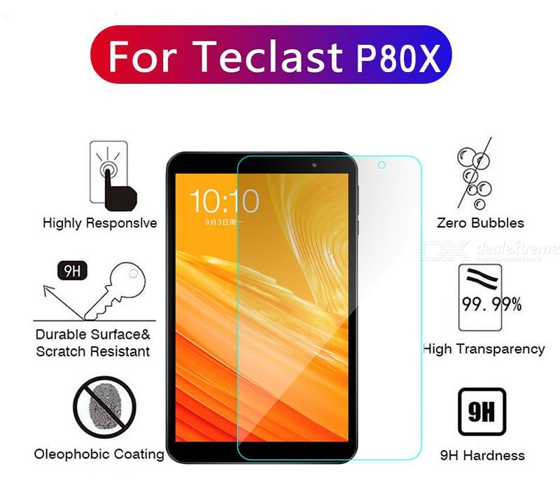 ASLING 0.3mm 9H Scratch-Proof Tempered Glass Screen Protector for Teclast P80X