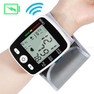Rechargeable Wrist Blood Pressure Monitor Tonometer Digital Display Auto Blood Pressure Meter Household Use Easy-Wrap Cuff