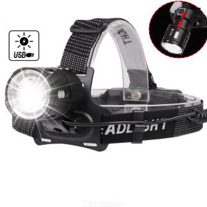 Powerful LED Headlamp Waterproof USB Rechargeable Bicycle Light for Outdoor Camping Cycling