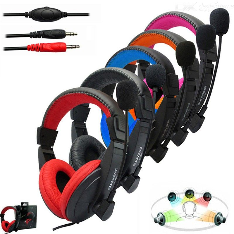 S-750 Multicolor 3.5mm Wired Stereo Gaming Headphone, Deep Bass Game Earphone Headset With Microphone For PC Game