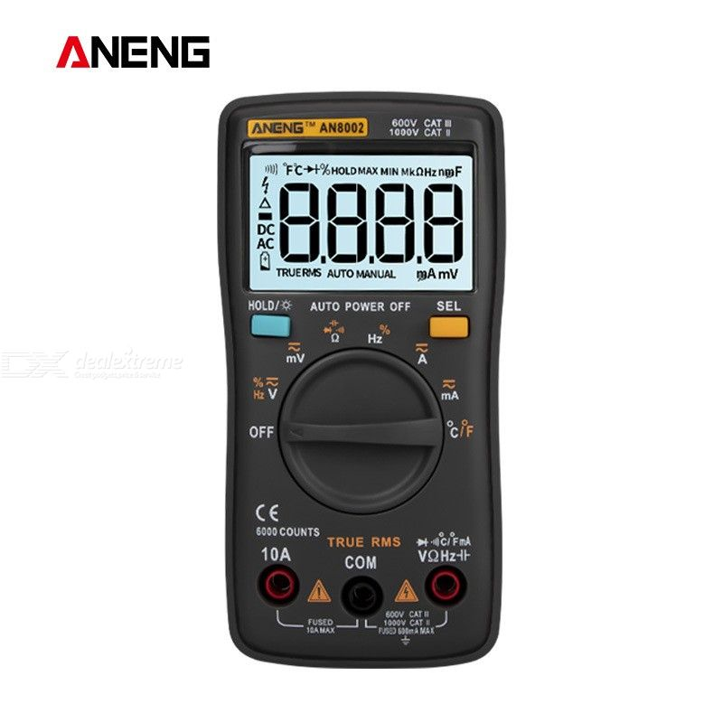 ANENG AN8002 Digital True RMS 6000 Counts Multimeter, AC/DC Current Voltage Frequency Resistance Temperature Tester