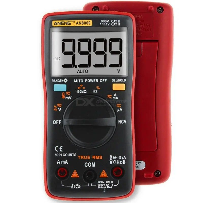 ANENG AN8009 True RMS NCV Digital Multimeter, 9999 Counts AC/DC Current Voltage Resistance Frequency Capacitance Tester