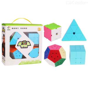 4PCS Abnormity Cubes Kit, Magic Rubiks Cube Educational Toy Puzzle For Kids Adults