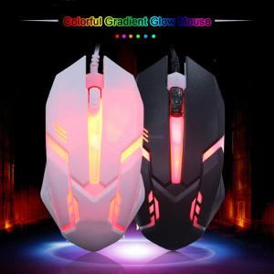 Small USB Wired Backlight Gaming Mouse for Notebook Office Computer