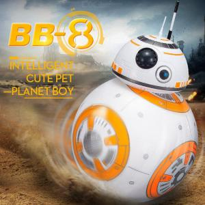 BB8 Intelligent RC Ball Robot Toy With Sound Action Figure Gift, 2.4G Remote Control Toy For Child