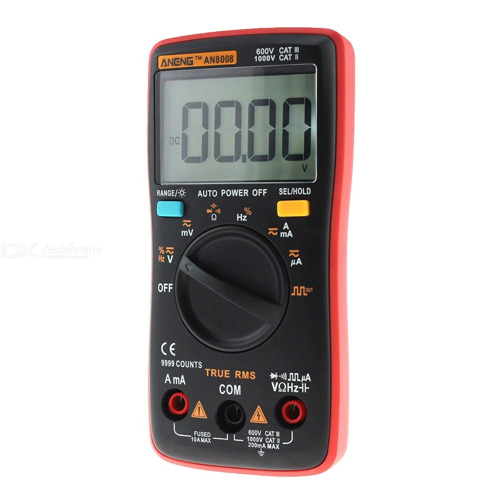 ANENG AN8008 True RMS Wave Output Digital Multimeter, 9999 Counts Backlight AC DC Current Voltage Resistance Frequency Tester