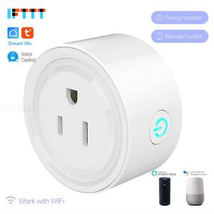 Smart Plug Mini Wifi Outlet Works With Alexa Google Home Remote Control 2.4Ghz Wifi Socket With Timer Function, No Hub Required
