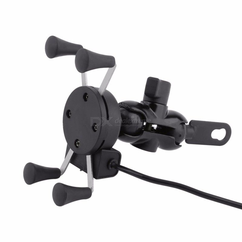 Universal 360 Degree Adjustable Cell Phone Holder Bike Motorcycle USB Charging Mount Moto handle