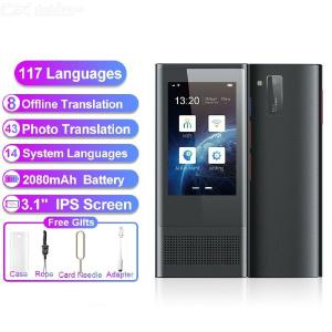 W1 3.0 AI Voice Photo Translator 3.1 inch IPS 4G WIFI 8GB Memory 2080mAh 117 Languages Portable Translation