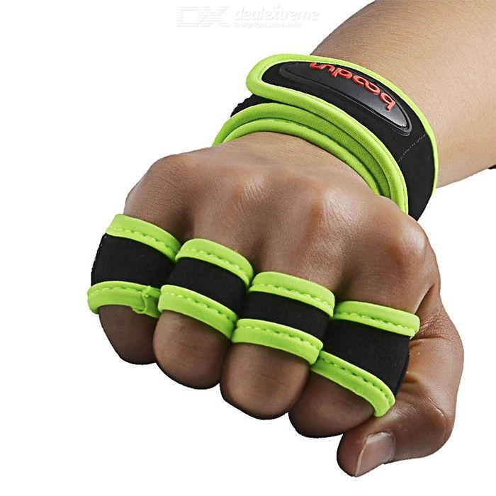 Fitness Sports Weight Lifting Gym Gloves Wrist Wrap Support Microfiber Gloves Men Women Bodybuilding Accessories