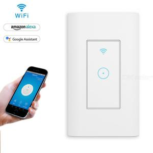 Smart Light Switch In-wall Wifi Switch Works With Alexa Google Home App Remote Control Switch With Timer Function, US Standard