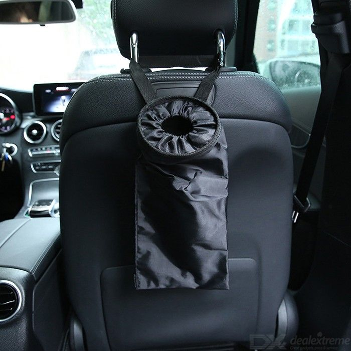Car Trash Bags Washable Car Headset Hanging Garbage Can For Vehicles Travelling Outdoor Activity