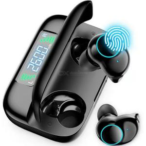 T3X TWS Bluetooth Earbuds Wireless Bluetooth 5.0 Headphones With Noise Cancellation W/2600mAh Charging Case