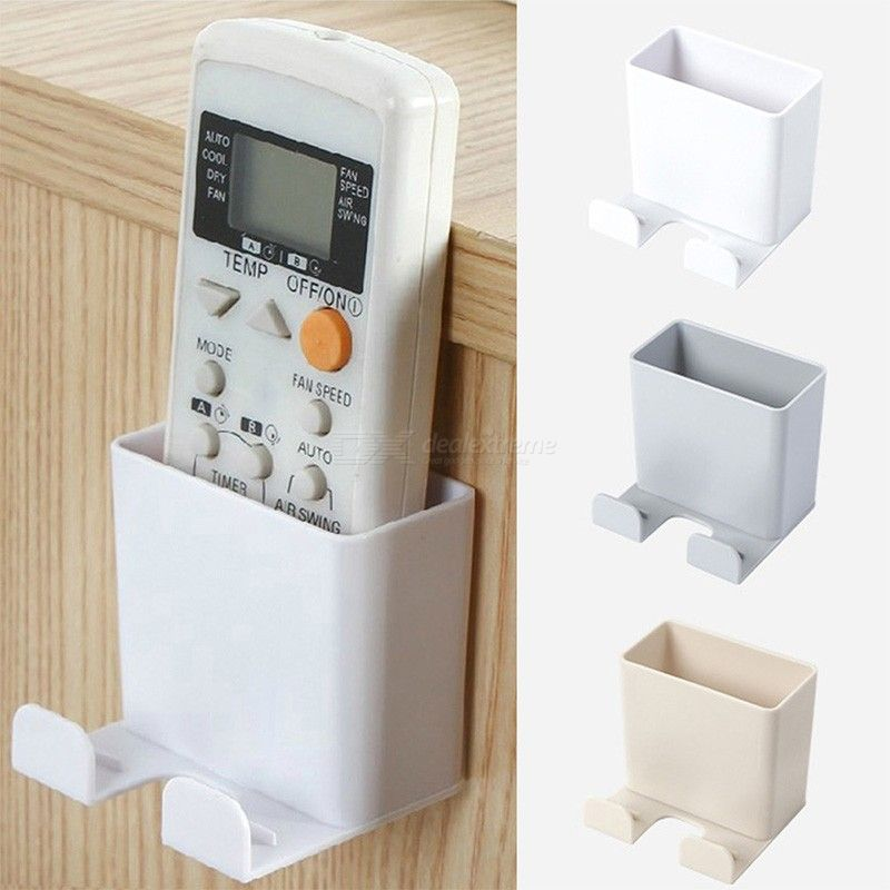 1PC Phone Wall Holder Wall Mounted Storage Rack Remote Controll Hanging Cellphone Charging Multifunction RC Holder
