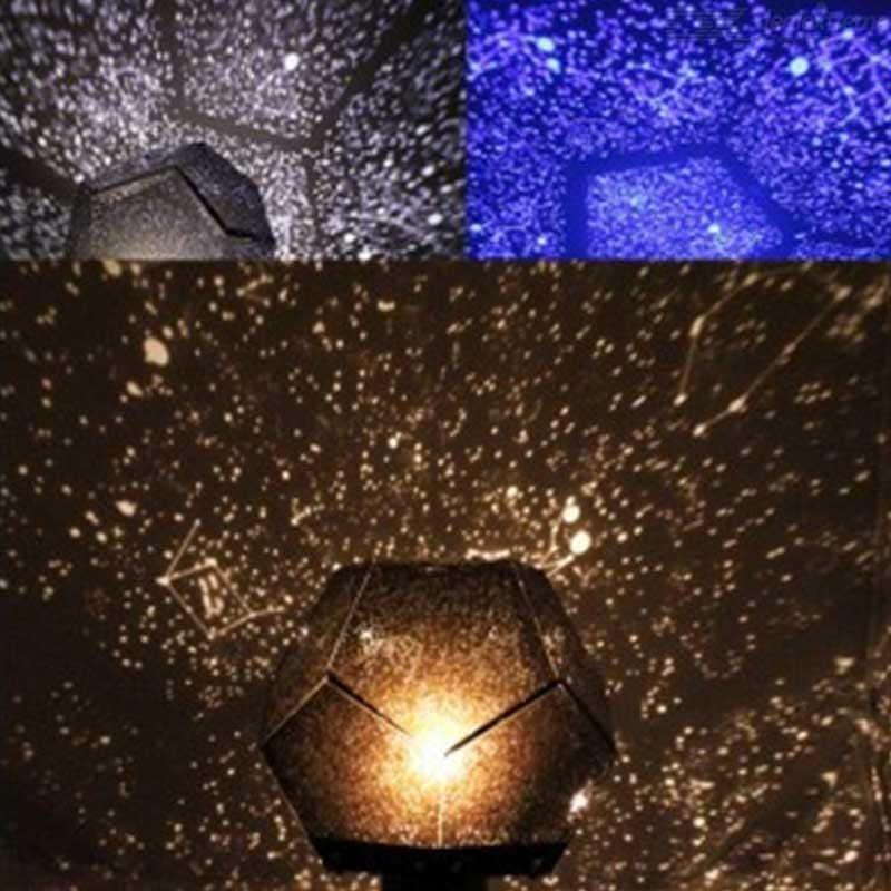 DIY Star Projector Night Light Starry Sky Projection Lamp With 3 Light Modes For Bedroom