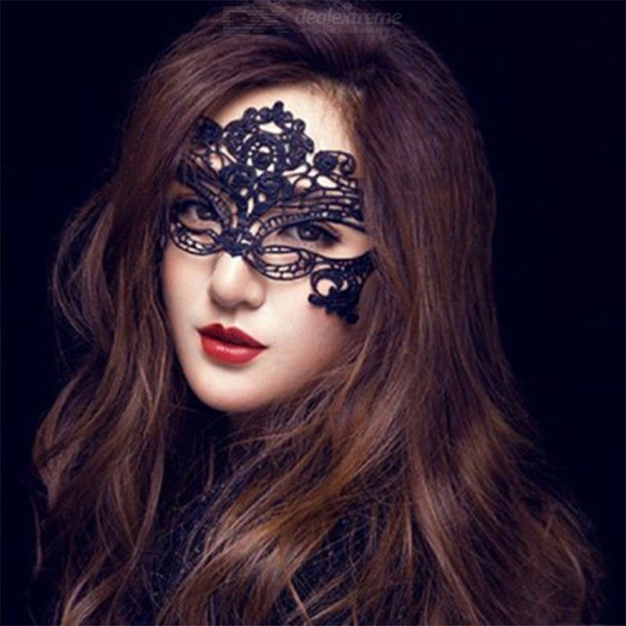 Costume | Hollow | Women | Black | Prom | Mask | Lace | Eye | Out