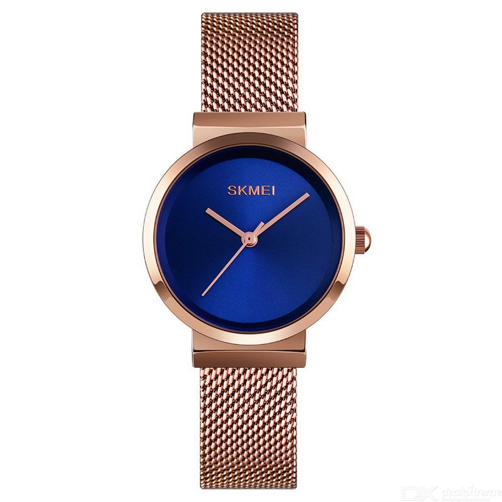 SKMEI 1595 Fashion Womens Mesh Strap Watch Waterproof Quartz Wristwatch