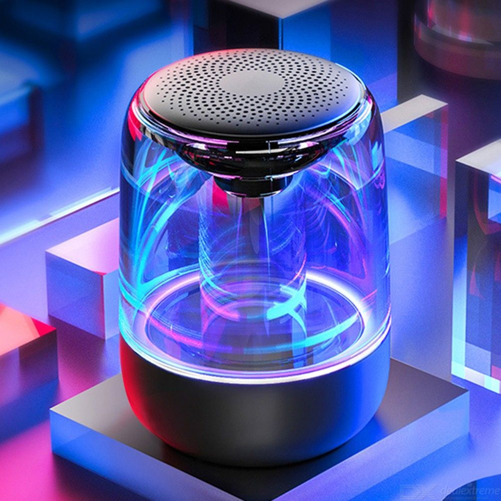 C7 Bluetooth Wireless Speaker Portable Speaker With HiFi Stereo Sound 12H Play Time Color Changing Light