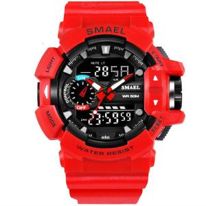 SMAEL 1436 Shockproof Sport Watch For Men, 50M Waterproof Digital Watch Military Army Clock Male Watch
