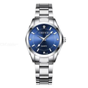 Womens Exquisite Fashion Quartz Watch Luminous Analog Wristwatch With Stainless Steel Band