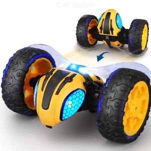 New Explosion Lightning Wasp Stunt Car 2.4G Remote Control Car 360 ° Tumble Light Drop Resistant Children Toy