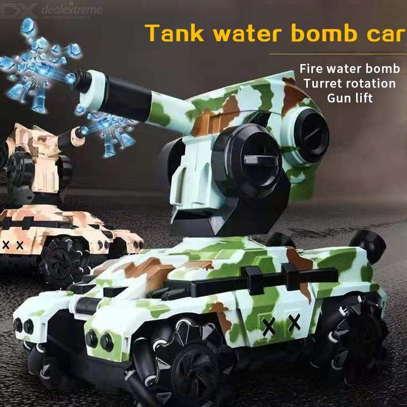 Wholesale Remote Control Tank Can Launch Water Bomb Off-road Vehicle Parent-child Combat Stunt Drift Climbing Car Children Toys