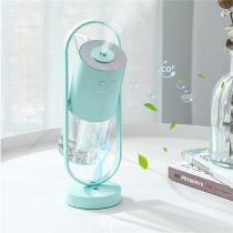 USB Cool Mist Humidifier Portable Ionic Air Humidifying Machine With 7 Color Night Light For Desk Office Home Bedroom