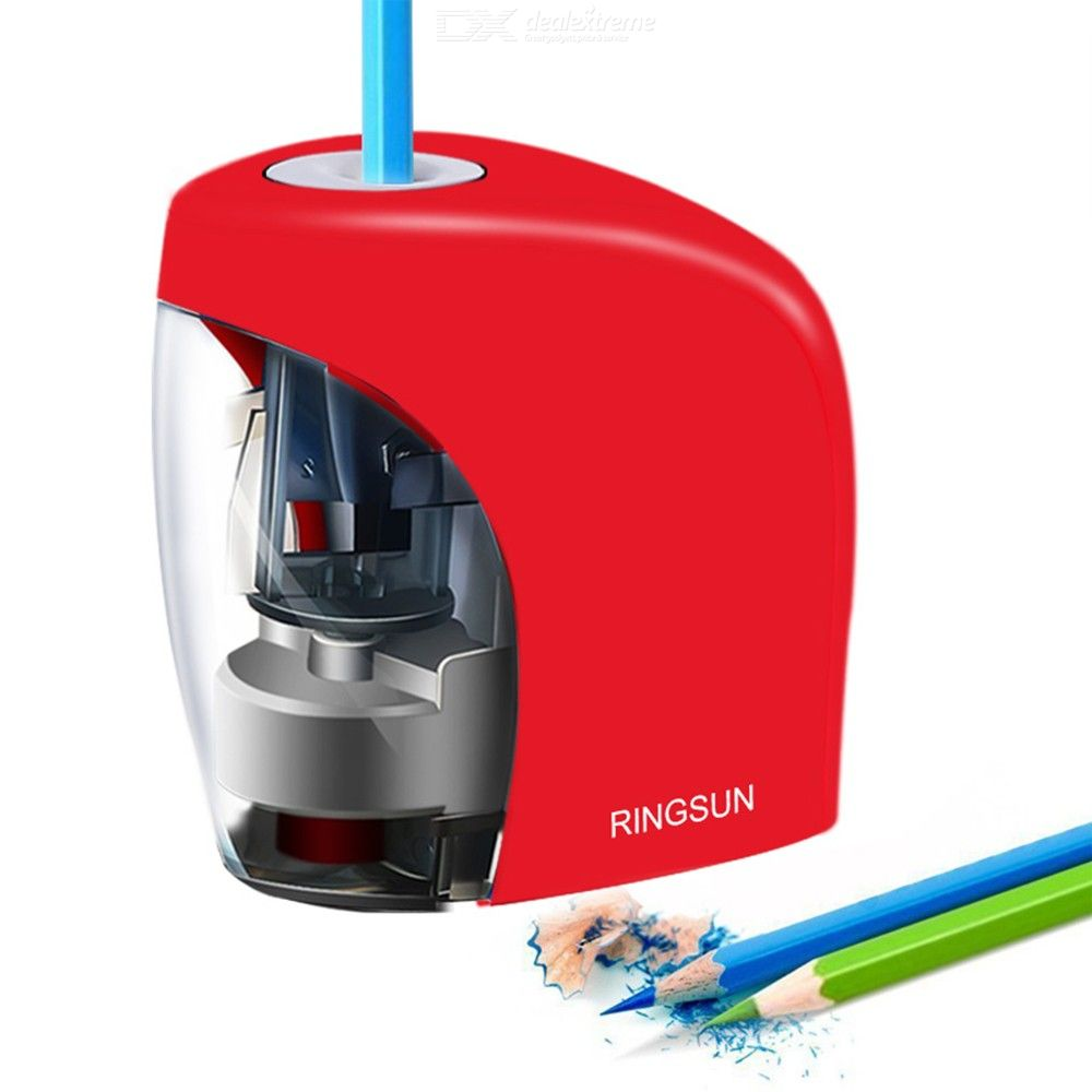 RingSun Electric Auto Pencil Sharpener School Sharpener Stationery For NO.2(8mm) Pencils And Colored Pencils USB/Battery Powered