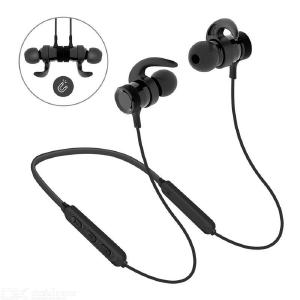 LY-16 Bluetooth Headphones Magnetic Sport Earphones 12H Long Playing Time Noise Cancellation - Black