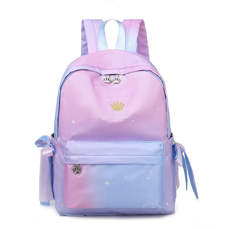 Student School Backpack Bags Large Capacity Bookbag Casual Travel Backpacks With Earphone Hole For Teenagers Girls Women