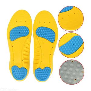 EID Flexible Cushioning Sports Insoles Women or Men Shoes Pad Gel Orthopedic Absorb Sweat Breathable Deodorant Military Insoles