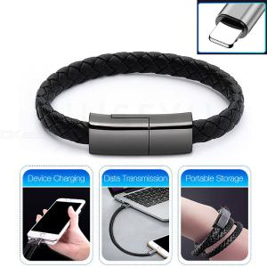 Long 22.5cm Creative Bracelet USB to Lightning Fast Charge Data Cable for iPhone