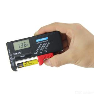 ANENG BT-168D Universal Digital Battery Volt Checker For 9V 1.5V And AA AAA Cell Batteries, LCD Display Battery Tester