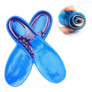 1 Pair Silicone Elastic Insoles Arch Support Shoe Pad Sport Running Gel Insoles Insertion Cushion for Men Women