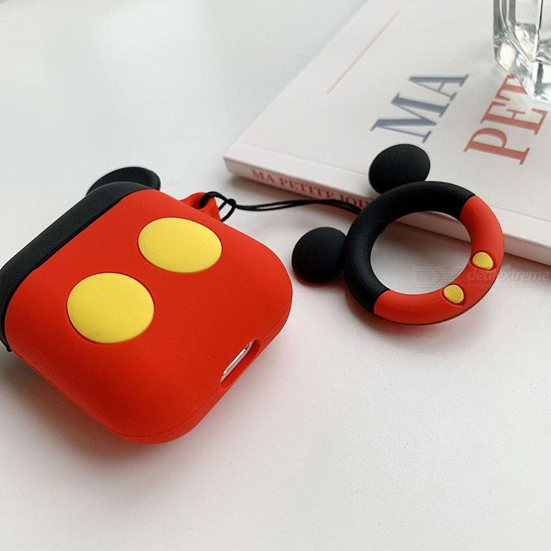 Silicone Case For Apple Airpods 2 1 Protection Cover Anti-lost Cartoon Hook Cute Design DIY