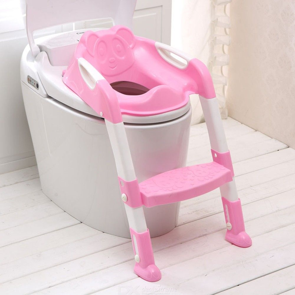 Potty Training Seat With Step Stool Ladder Foldable Safe Toilet Seat For Children