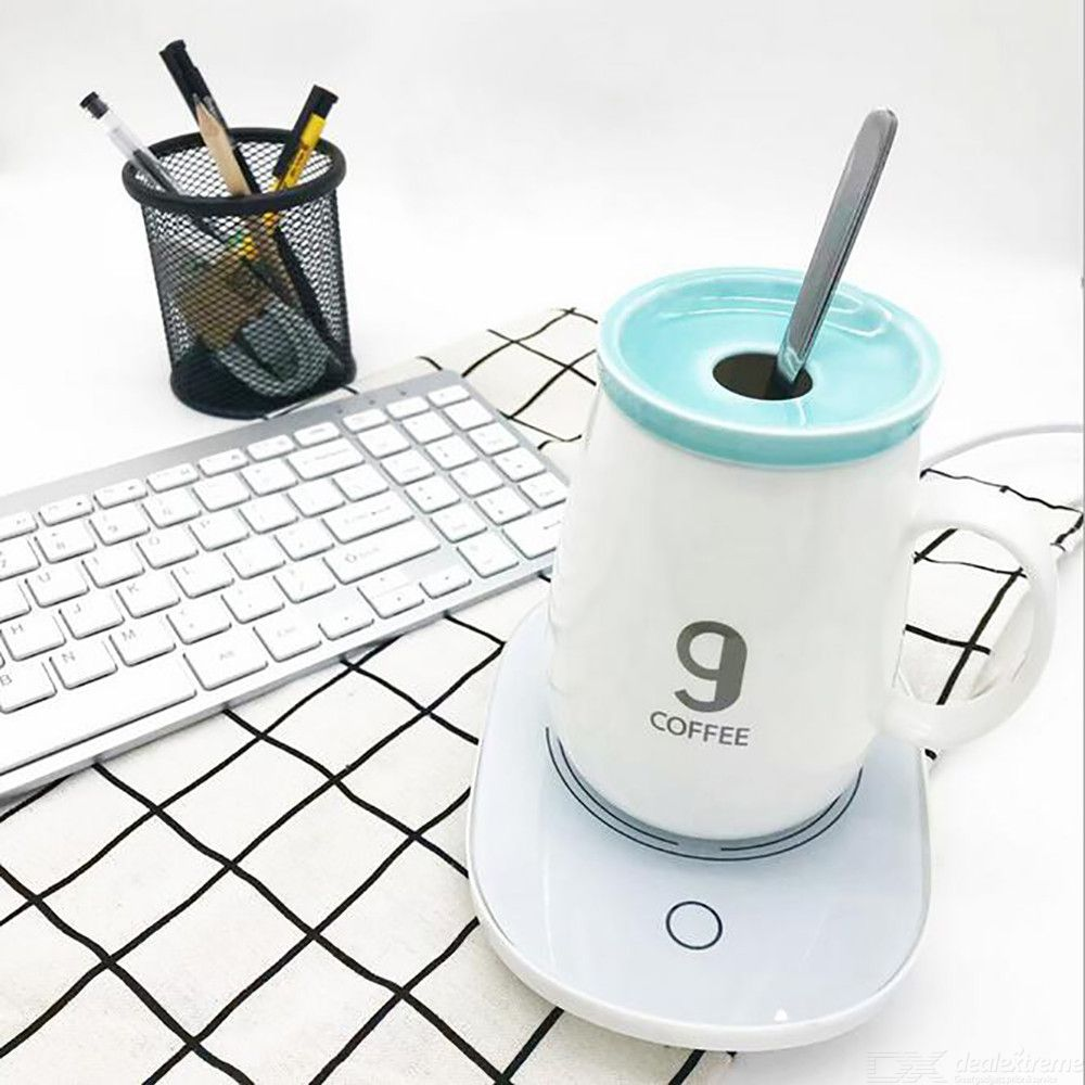 Mug Warmer Coffee Warmer 55℃/131℉ Cup Heater for Office Home to Warm Coffee Tea Milk Beverage