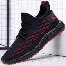 Men Breathable Lightweight Running Shoes Casual Lace Up Sneaker For Walking