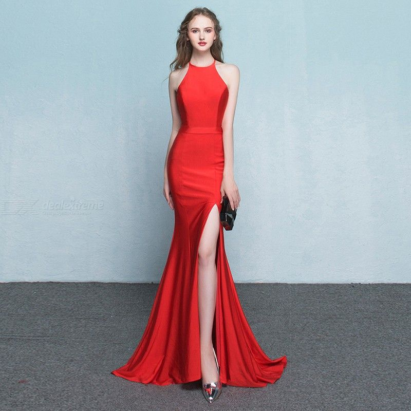 Women's Evening Gown Noble Elegant Slim-fit High Waist Maxi Dress Fishtail Dress for Cocktail Party Prom Banquet Wedding